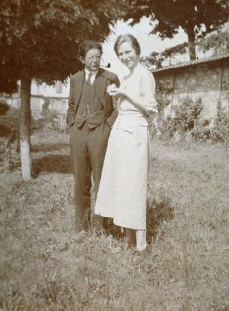 Jean Piaget et Valentine Chatenay en 1922.