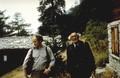 Avec Jean-Rémy Berthoud, Valais, 1976